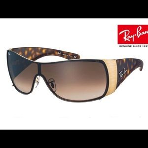 Ray Ban RB3361 tortoise and brushed gold NEW!